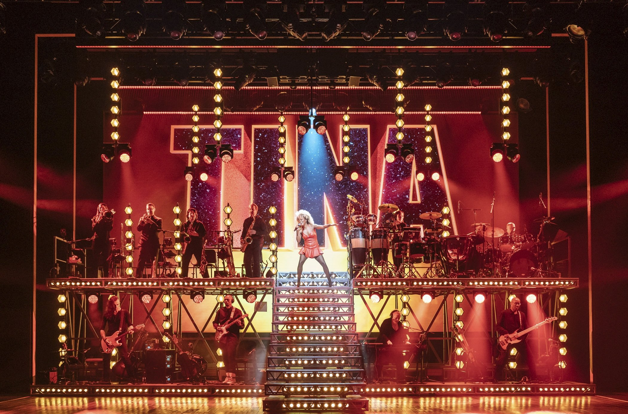This image released by Polk & Co. shows Adrienne Warren in a scene from 'Tina: The Tina Turner Musical.' (AP)