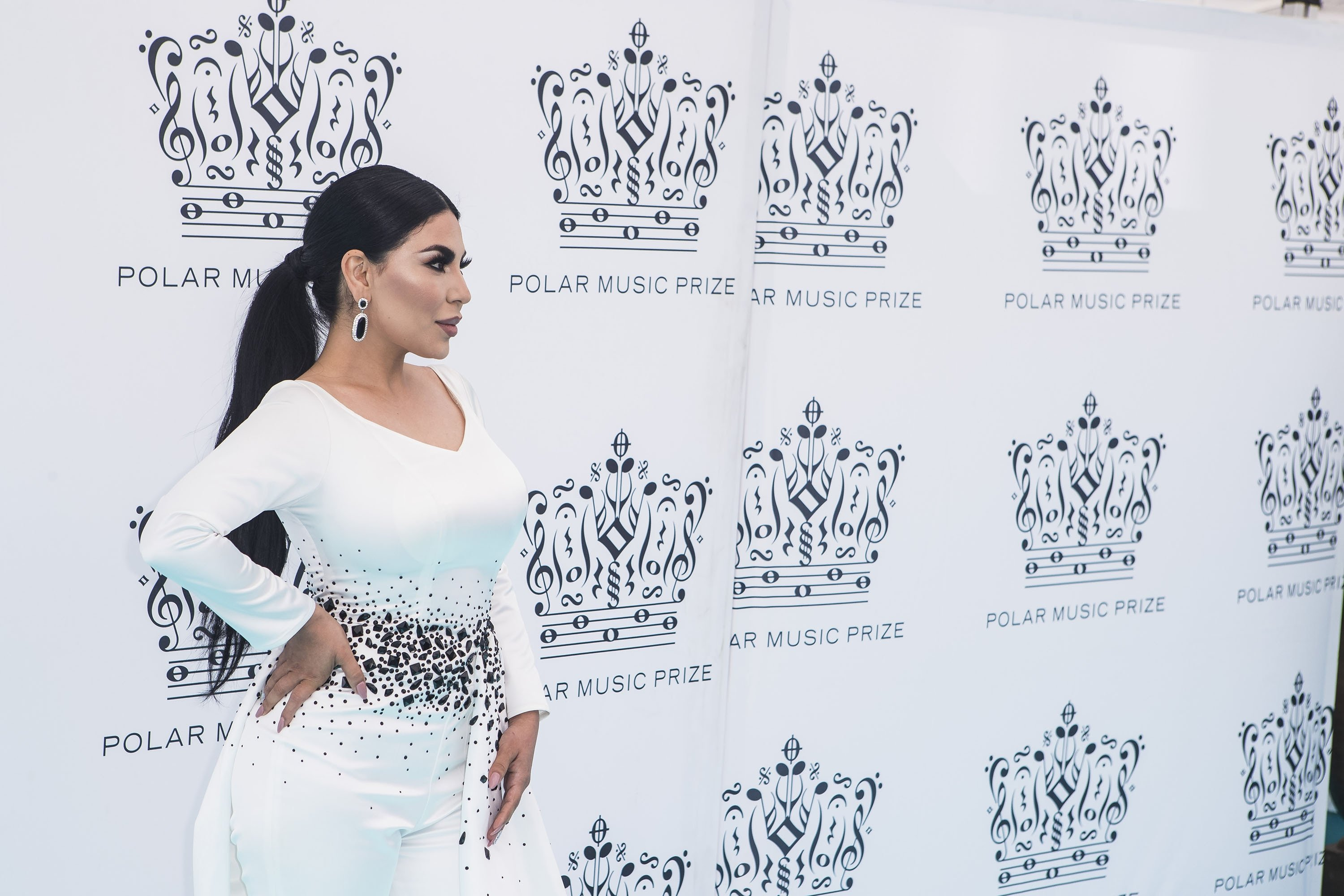 Aryana Sayeed attends the 2018 Polar Music Prize award ceremony at the Grand Hotel in Stockholm, Sweden, on June 14, 2018. (Getty Images)