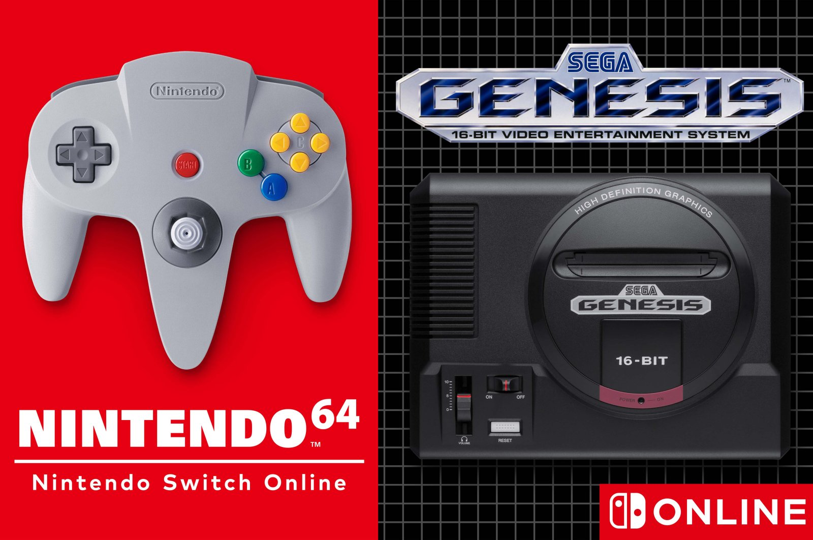 The promotional poster for the upcoming Nintendo 64 and Sega Genesis Expansion Pack (Credit: Nintendo)