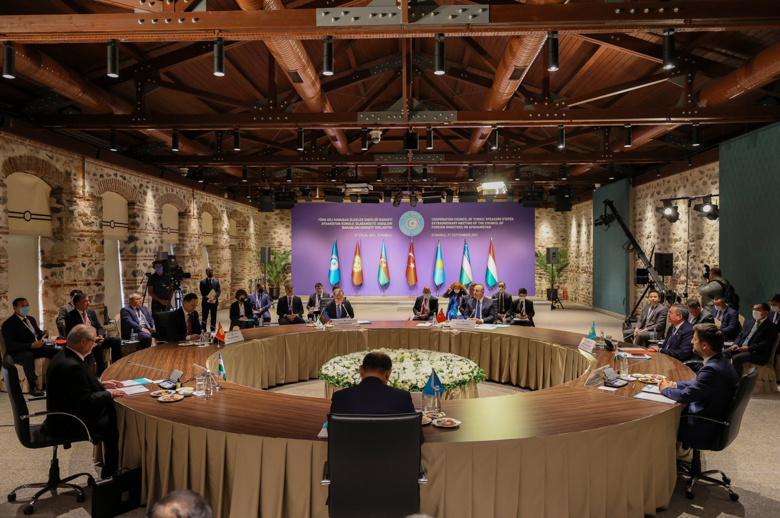 A Turkic Council meeting is held in Istanbul, Turkey, Sept. 27, 2021. (AA Photo)