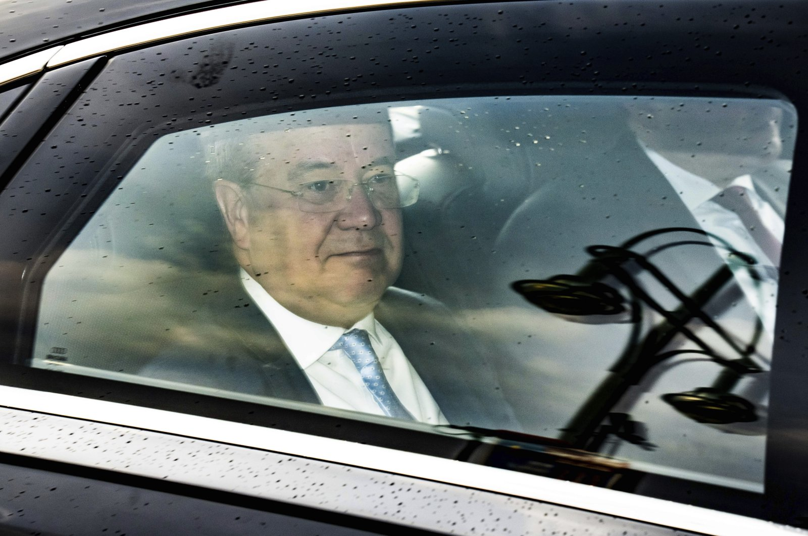 CDU/CSU candidate for chancellor Armin Laschet arrives at the party's leaders' meetings in Berlin, Germany, Sept. 27, 2021. (AP Photo)