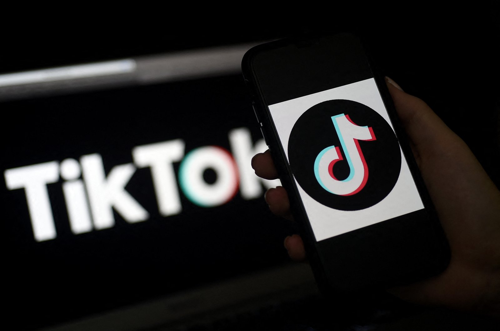 The TikTok logo is displayed on the screen of an iPhone on April 13, 2020, in Arlington, Virginia (AFP)