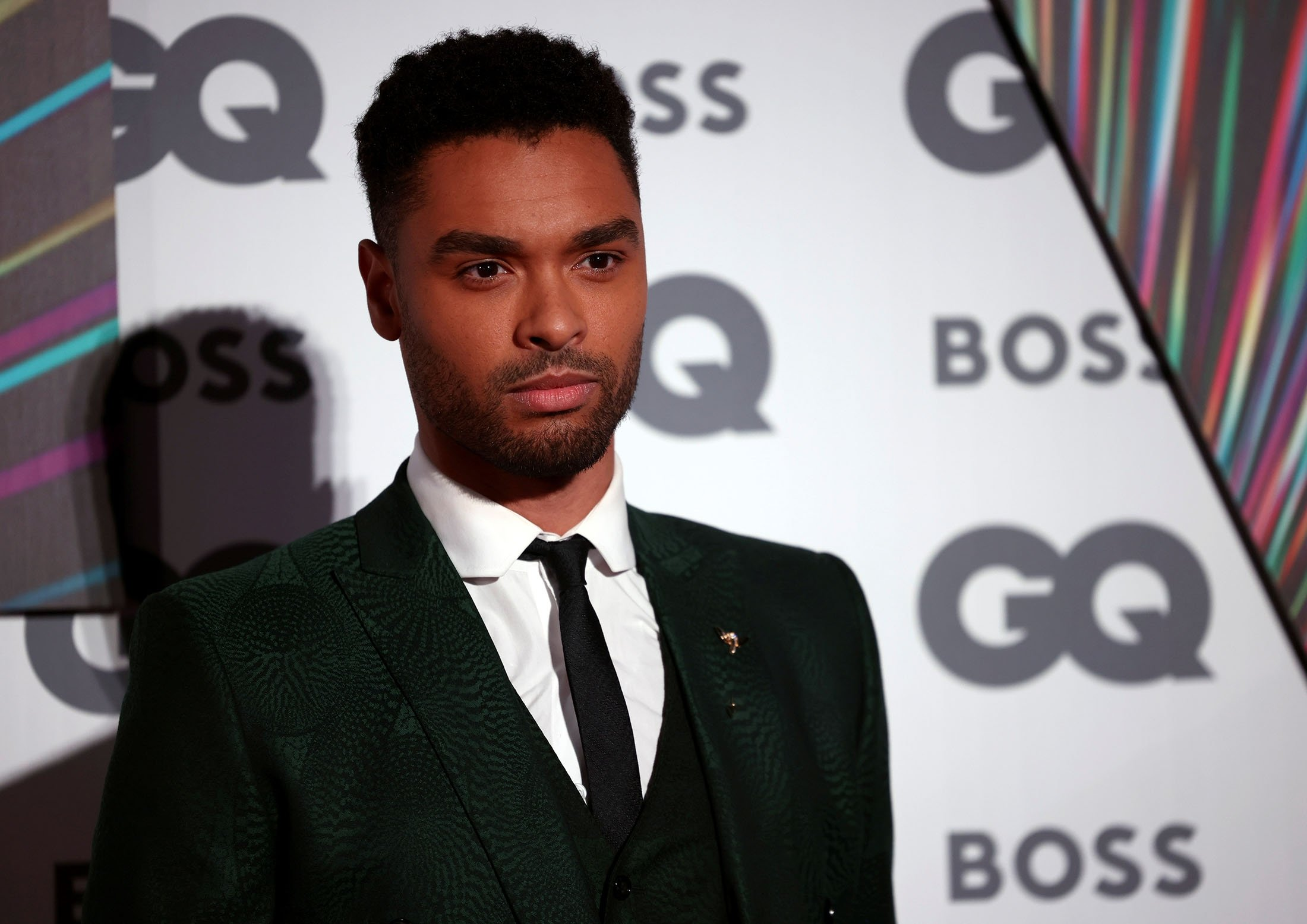 Actor Rege-Jean Page arrives to the GQ Men Of The Year Awards 2021 in London, U.K., Sept. 1, 2021. (Reuters Photo)