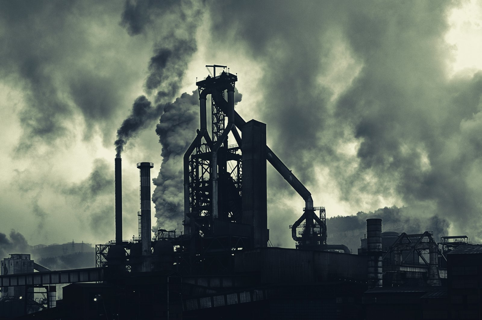 An industrial area with heavy air pollution captured in Turkey, unknown date. (Getty Images Photo)