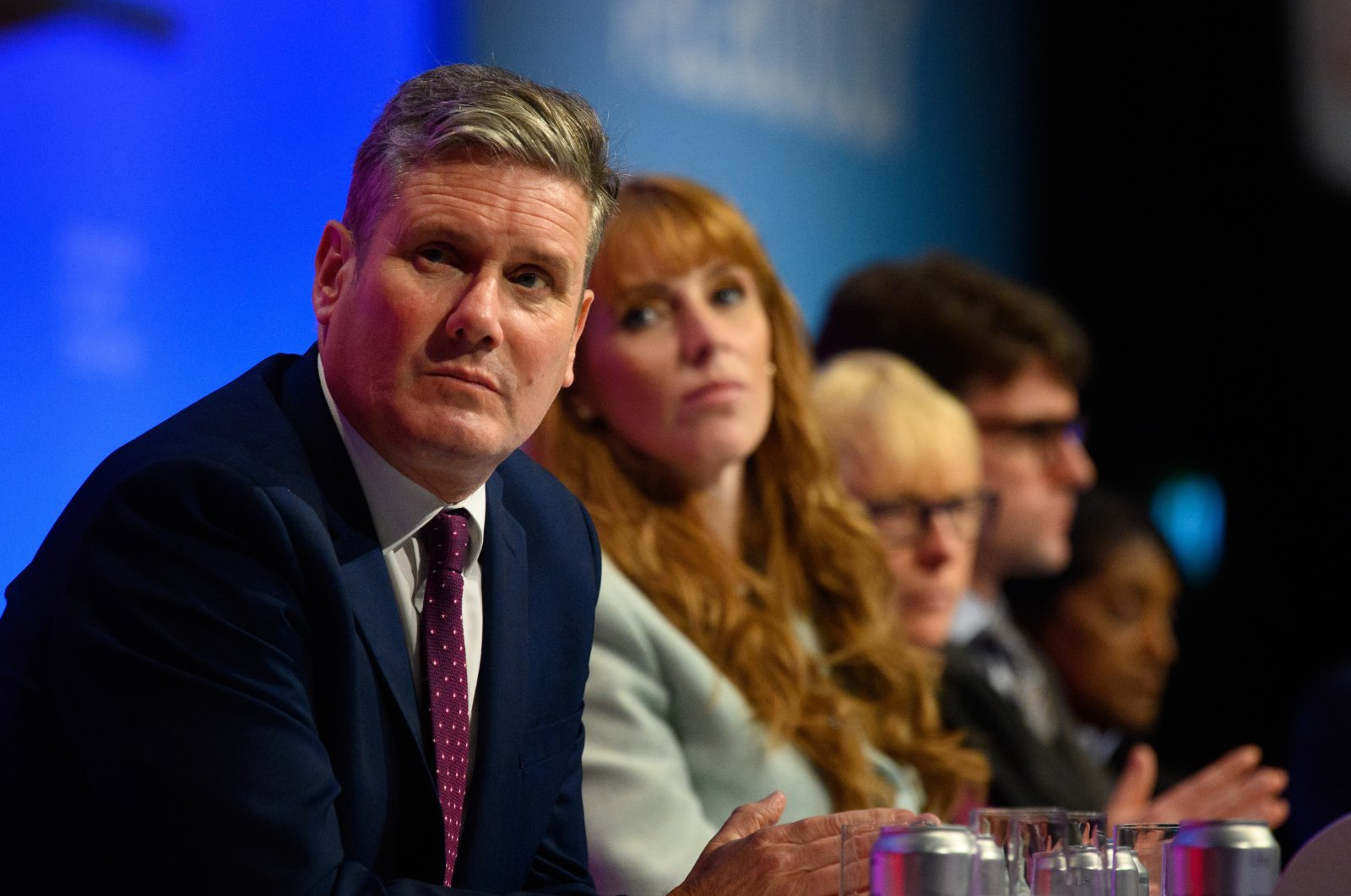 Leader of the Labour Party Sir Keir Starmer and deputy Leader Angela Rayner pictured at the 2021 Labour Party Conference in Brighton on Sept. 27, 2021. (Matt Crossick / Empics via Reuters)
