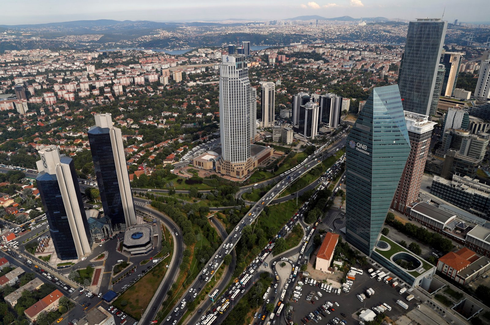 The business and financial district of Levent, which is comprised of bank headquarters and popular shopping malls, is pictured in Istanbul, Turkey, July 9, 2019. (Reuters Photo)