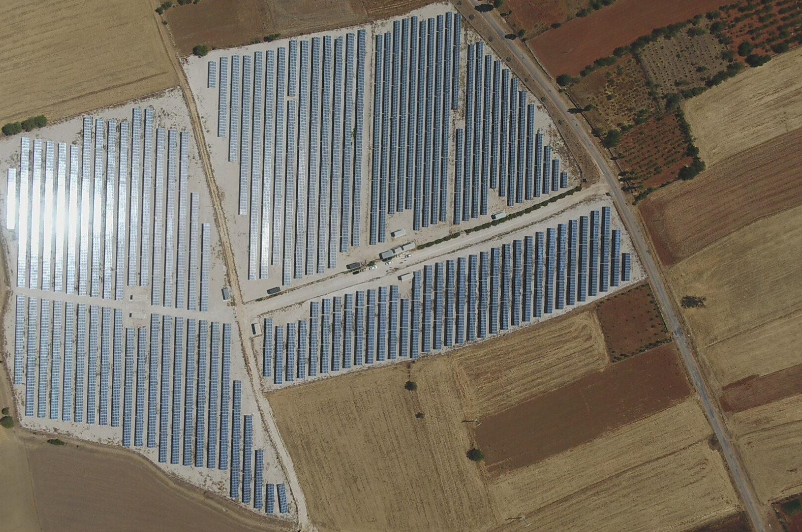 Solar panels are seen in the southern province of Antalya, Turkey, Sept. 12, 2021. (IHA Photo)