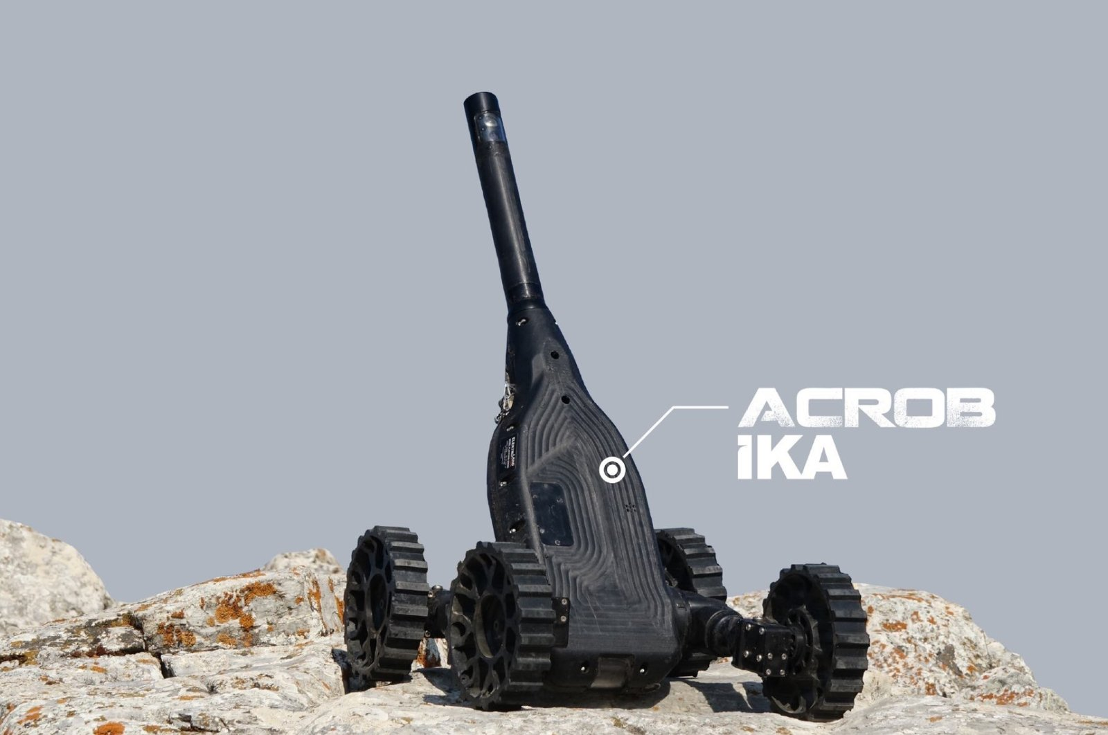 A Turkish-made Acrob IKA (UGV) is seen in this poster shared by the Ministry of National Defense (MSB) on Sept. 29, 2021. (Credit: MSB)