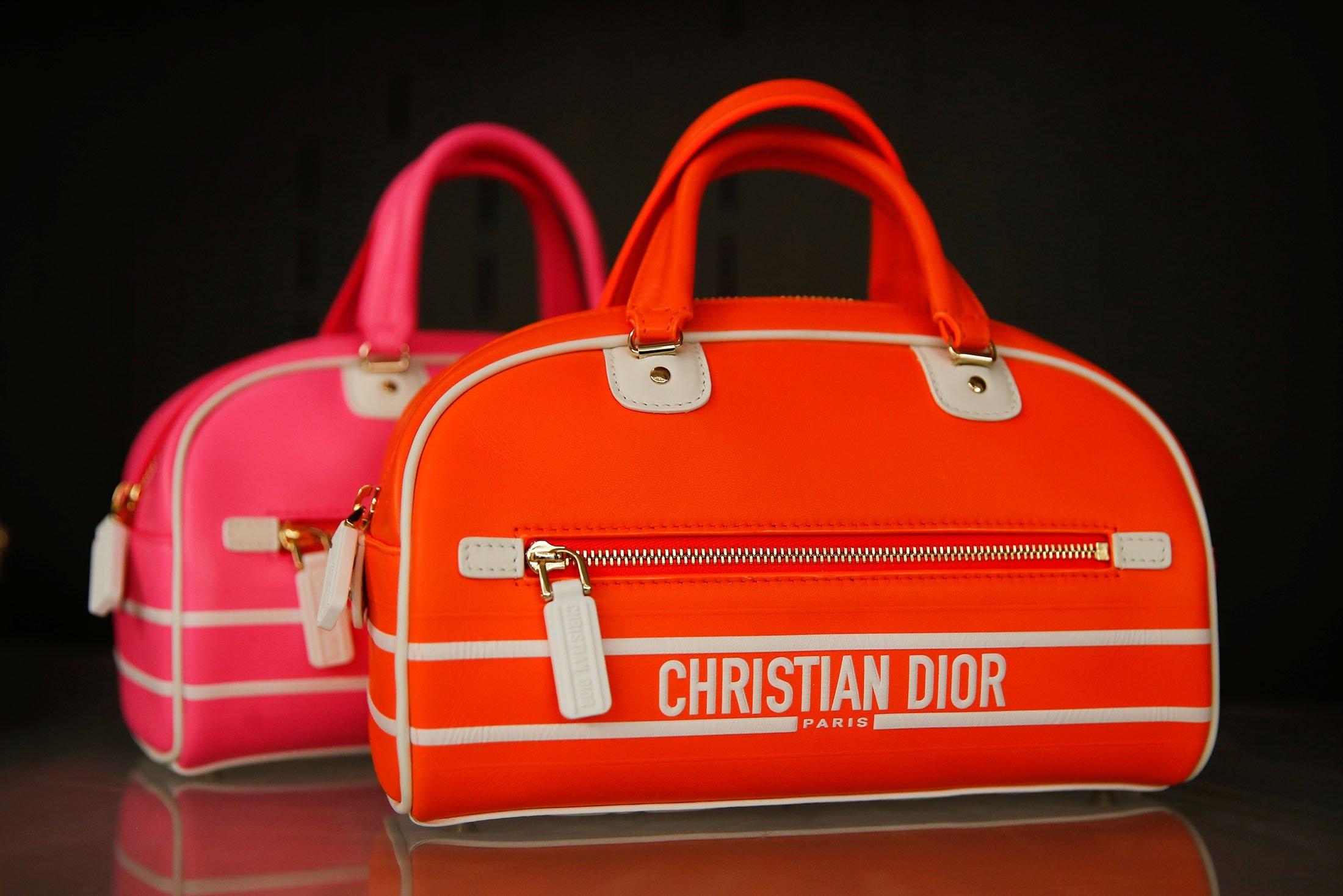 Handbag creations by designer Maria Grazia Chiuri are seen at the Dior workshop ahead of Paris Fashion Week in Paris, France, Sept. 26, 2021. (Reuters Photo)