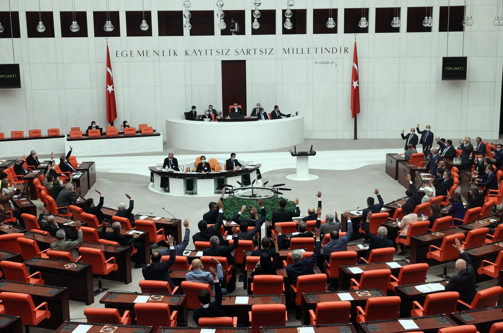 A view of the General Assembly of the Turkish Parliament is seen in this undated file photo. (Sabah File Photo)