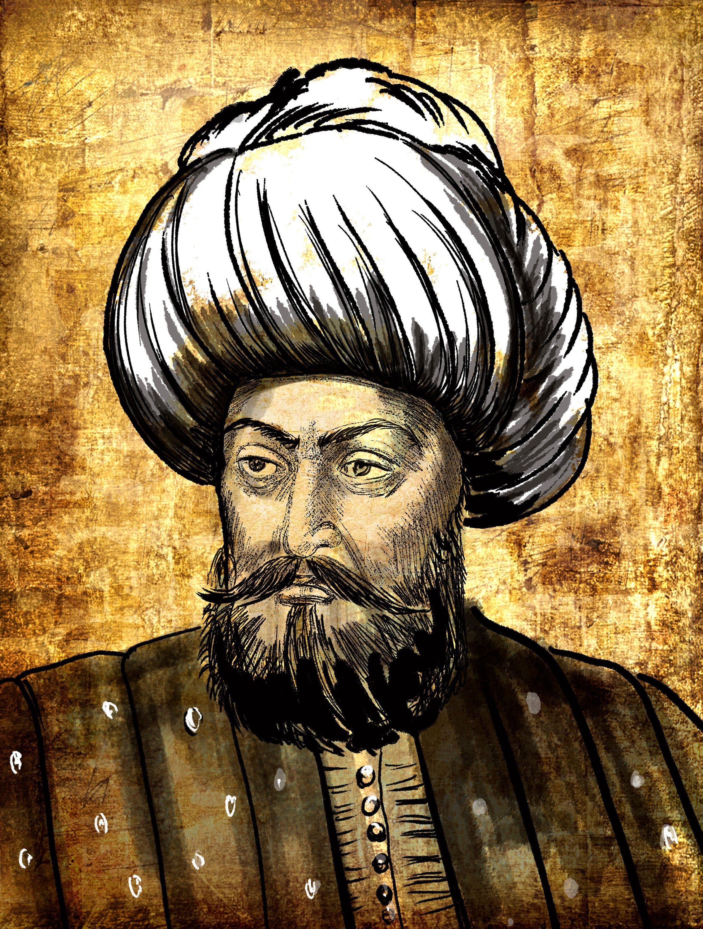 An illustration of Orhan I. (Shutterstock Photo)