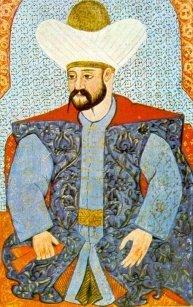 An Ottoman miniature painting depicting Murad I. (Wikimedia Photo)