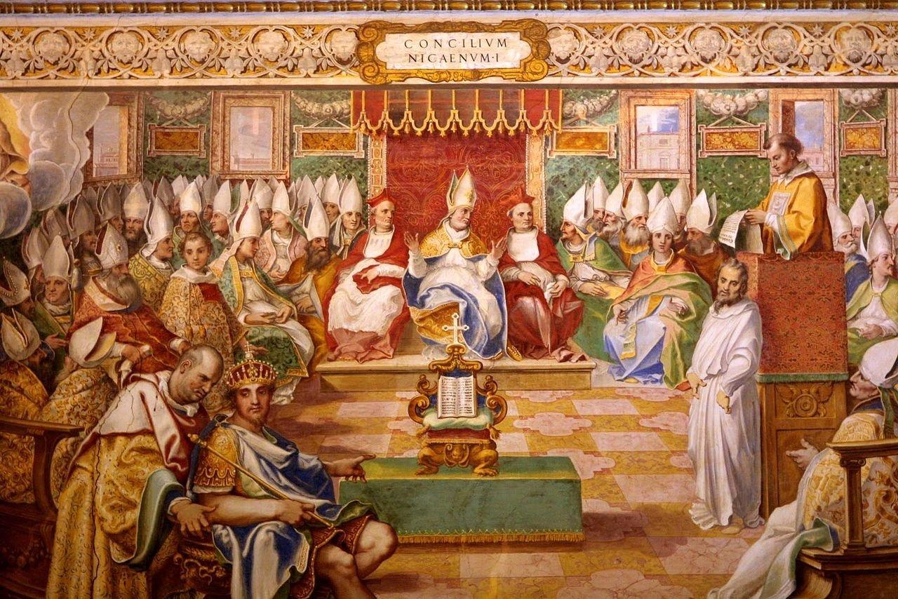 A 16th-century fresco depicting the Council of Iznik (Nicaea). (Wikimedia Photo)