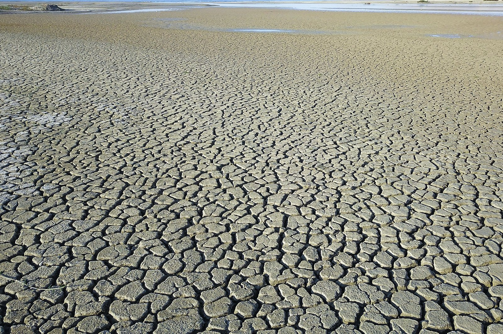 Arid land hit by drought due to global warming in Van, eastern Turkey, Sept. 30, 2021. (AA PHOTO)
