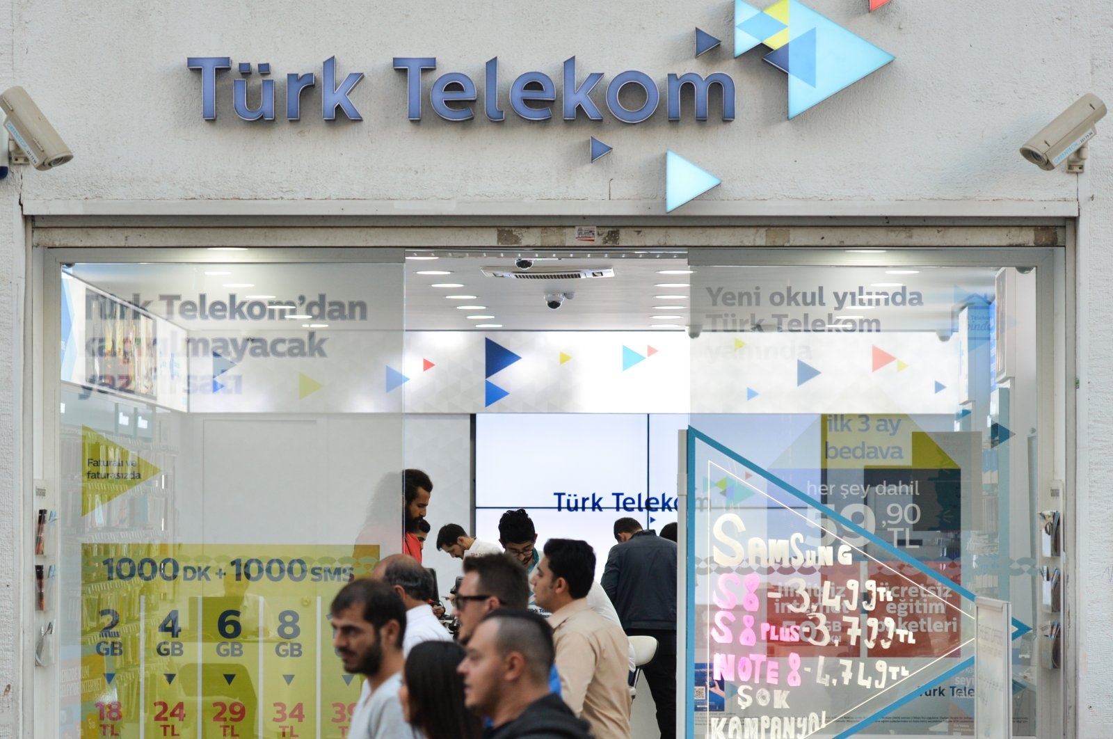 A view of a Türk Telekom branch located on Istiklal Avenue in the Beyoğlu district of Istanbul, Turkey, Oct. 17, 2017. (Getty Images)