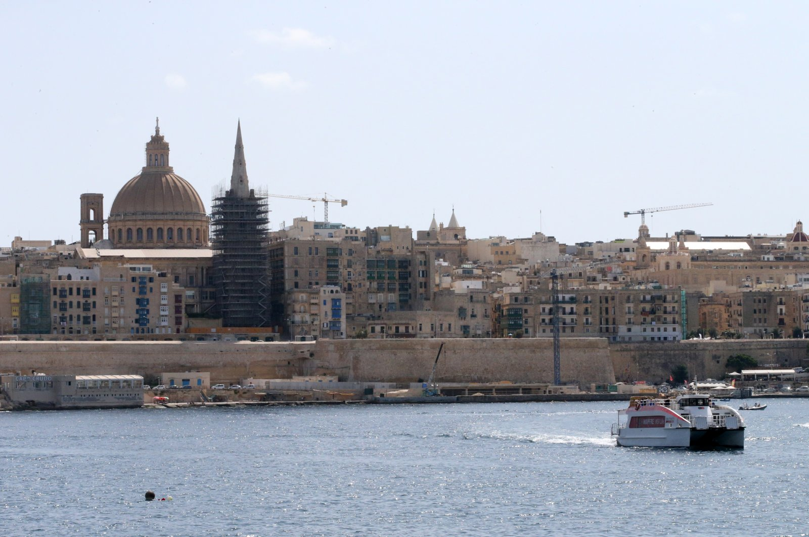 A general view of the Maltese capital Valletta, where many Turkish companies carry out construction projects, Oct. 1, 2021. (AA Photo)