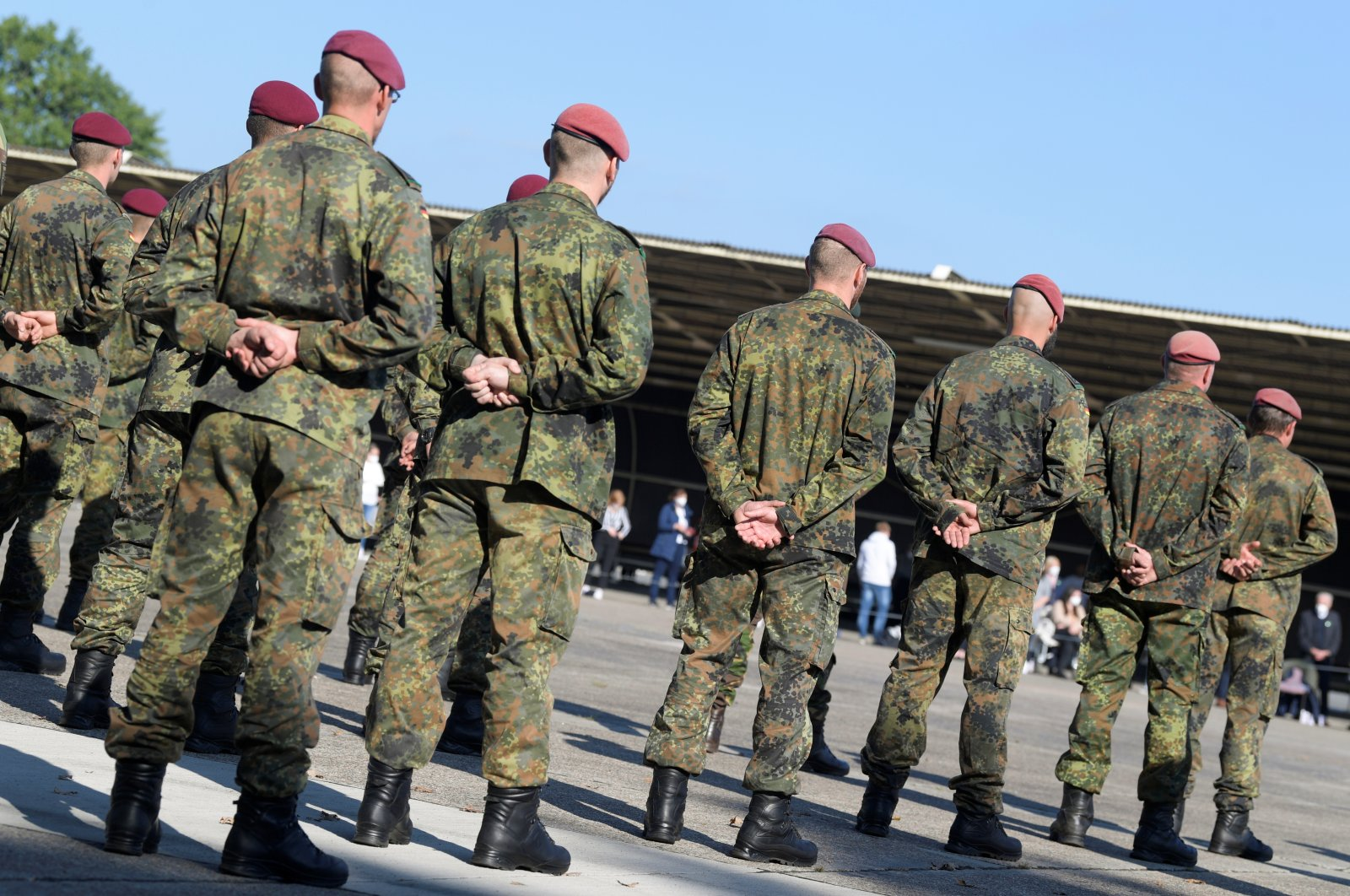 German soldiers attend a ceremony for soldiers who took part in the military evacuation operation from Kabul, in Seedorf, Germany, Sept. 22, 2021. (Reuters Photo)