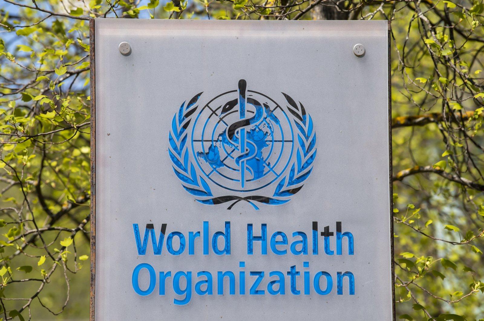 The logo and building of the World Health Organization (WHO) headquarters in Geneva, Switzerland, April 15, 2020. (EPA Photo)