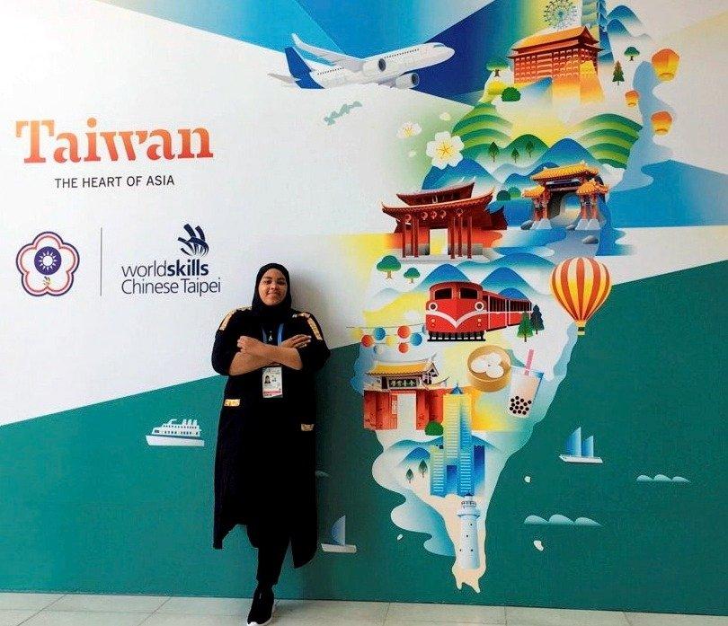 Qornitah Lesperance during her trip to Taiwan.