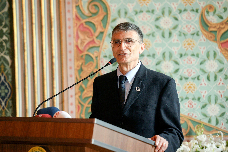Aziz Sancar gives a speech at Istanbul University, Turkey, May 29, 2016. (Shutterstock Photo)