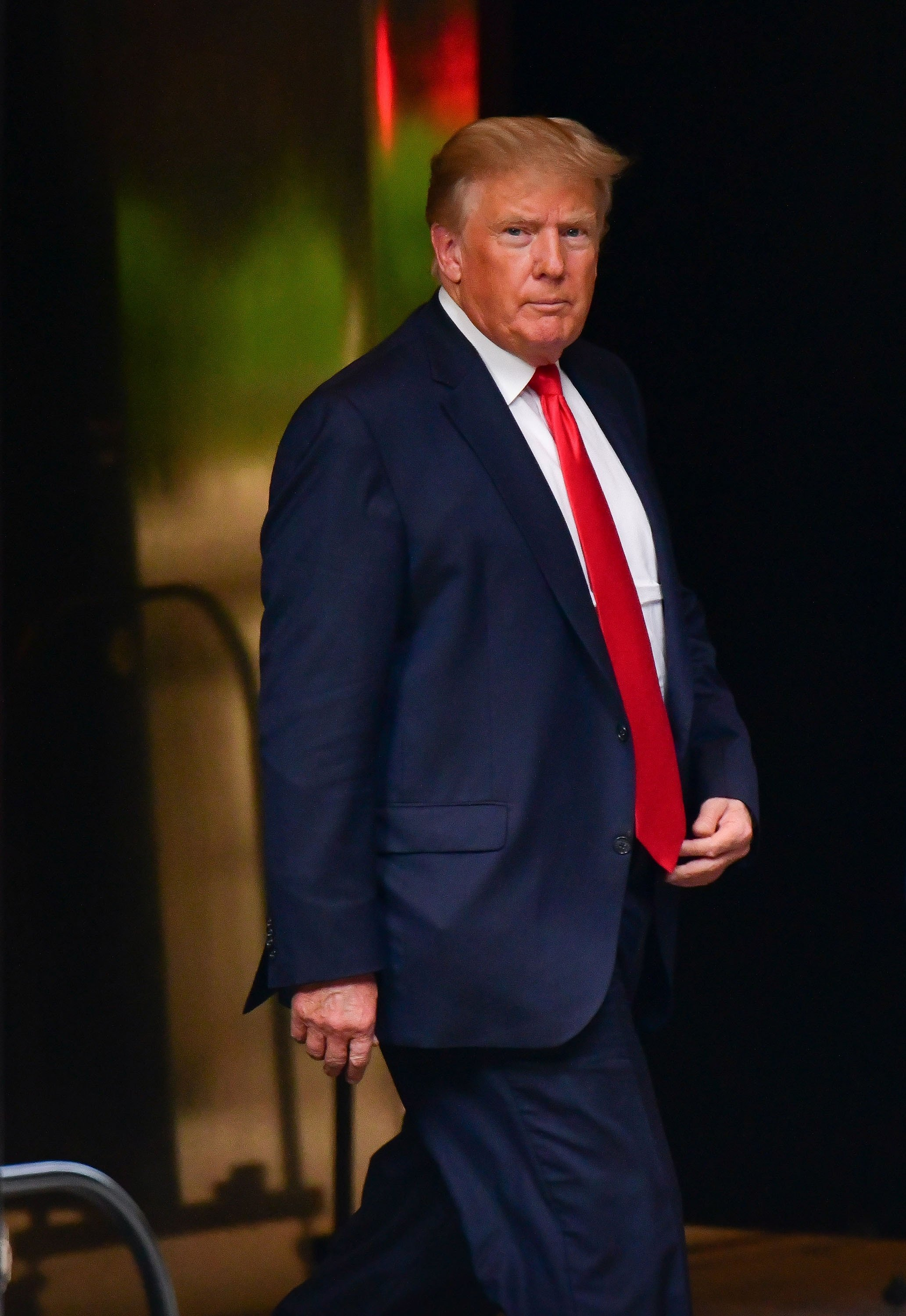 Former U.S. President Donald Trump leaves Trump Tower in Manhattan, New York, U.S. July 19, 2021. (Getty Images Photo)