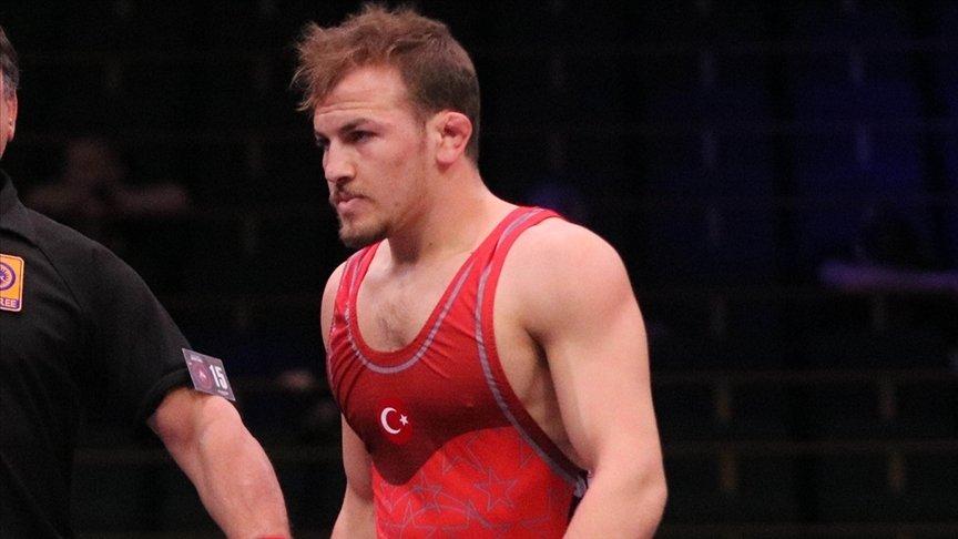 Turkish wrestler Fazıl Eryılmaz at Wrestling World Championships in Oslo, Oct. 3, 2021. (AA Photo)