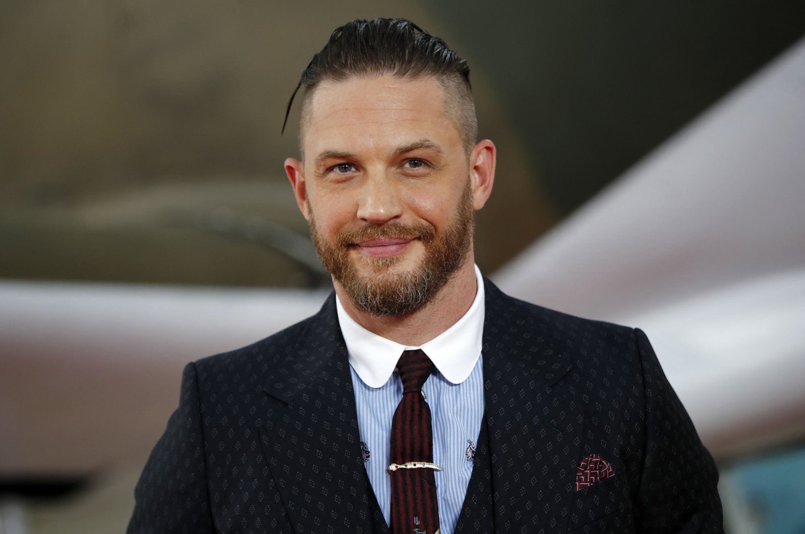 """British actor Tom Hardy poses for a photograph upon arrival for the world premiere of """"Dunkirk"""" in London, U.K., July 13, 2017. (AFP Photo)"""