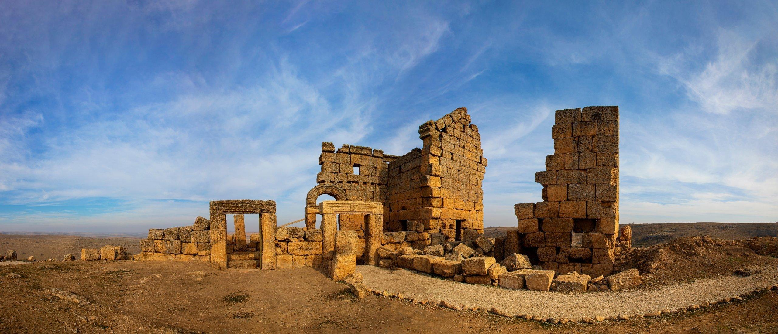 A panoramic view of the church ruins in Zerzevan Castle in Diyarbakır, southeastern Turkey. (Shutterstock Photo)