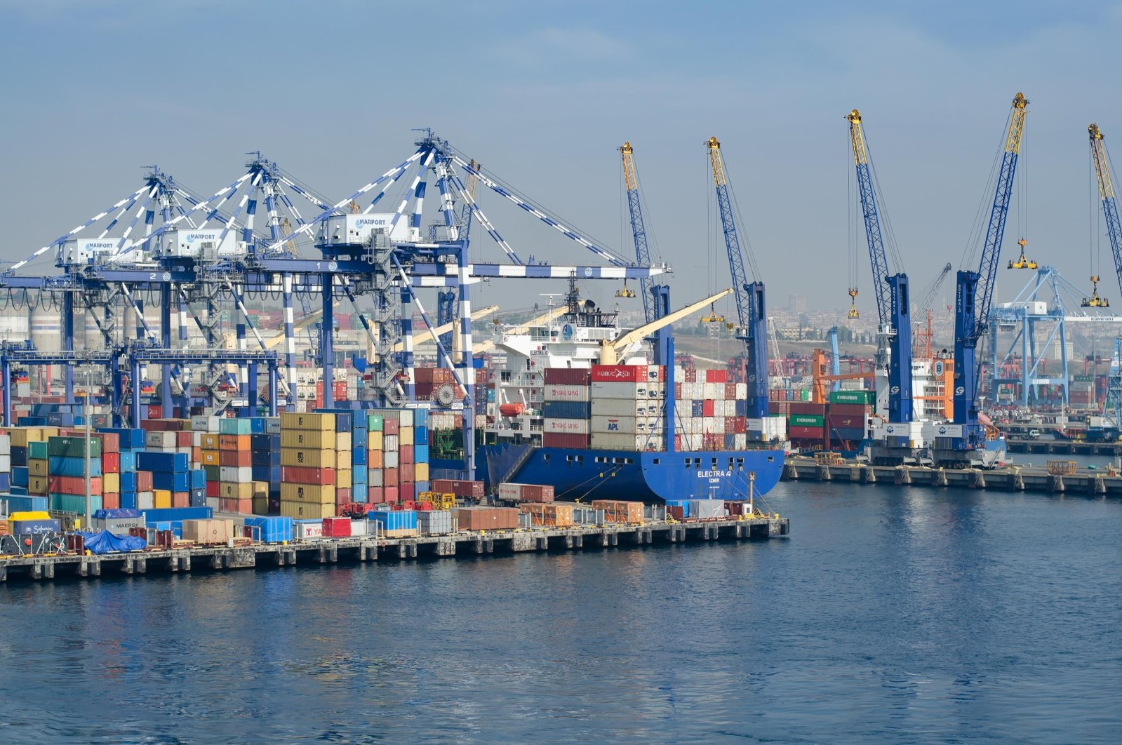 A container vessel is seen at the port of Ambarlı in Istanbul, Turkey, Oct. 3, 2016. (Shutterstock Photo)
