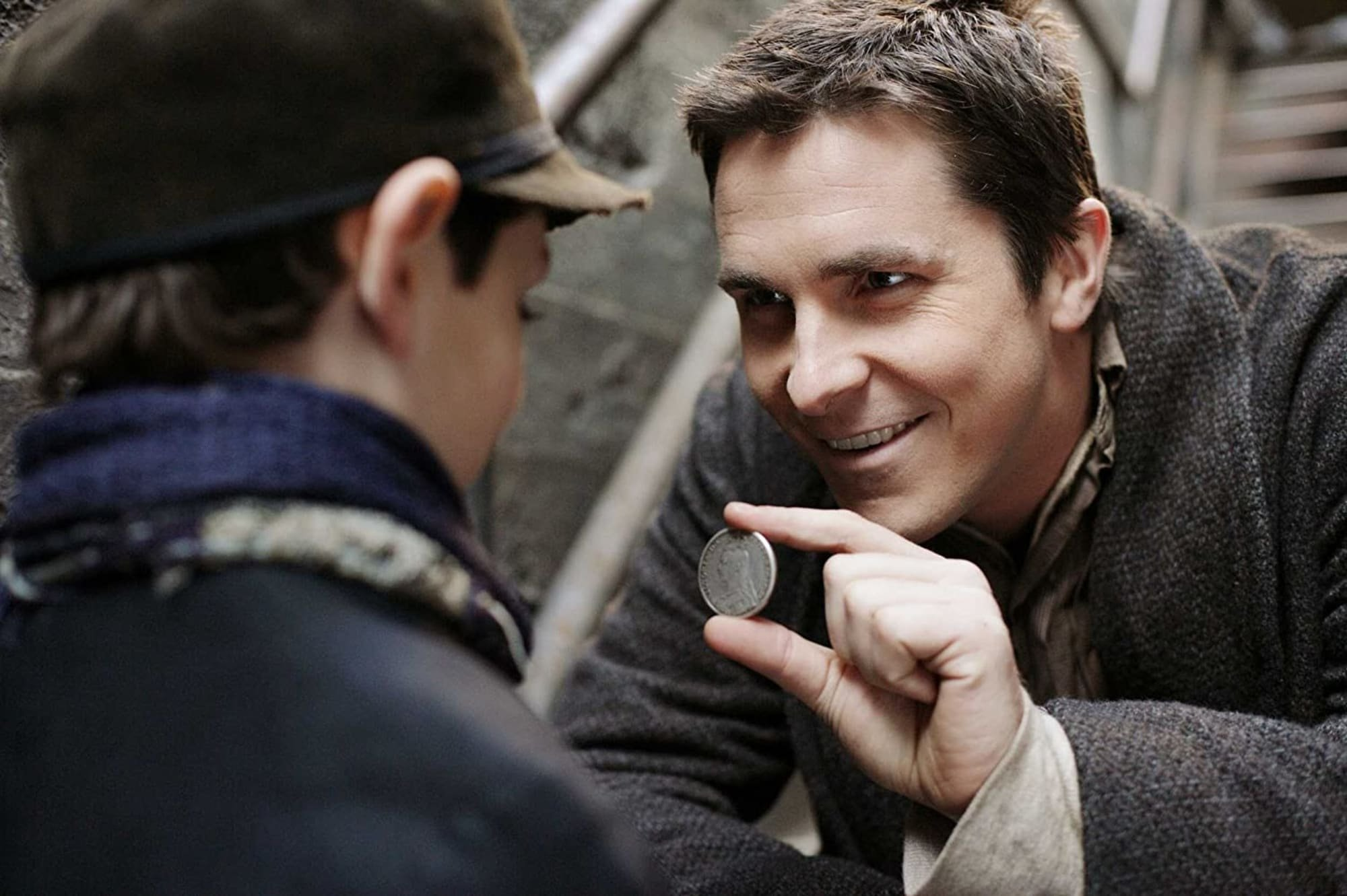 Christian Bale as magician Alfred Borden in a still shot from 'The Prestige'.