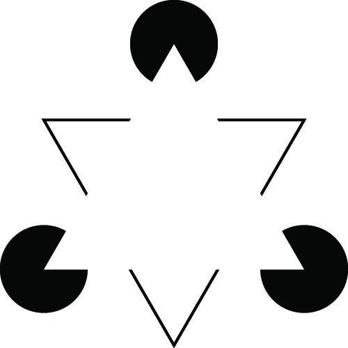 Kanizsa Triangle. (Shutterstock Photo)
