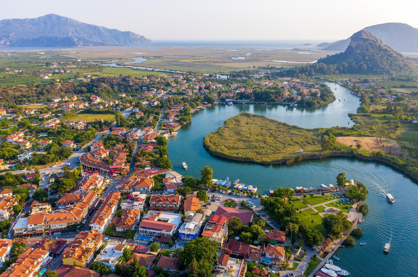 A drone view of Dalyan. (Shutterstock Photo)