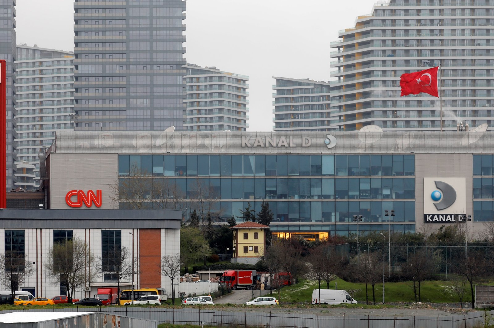 A media center that comprises Hürriyet newspaper and broadcasters CNN Türk and Kanal D is pictured in Istanbul, Turkey, March 22, 2018. (Reuters Photo)