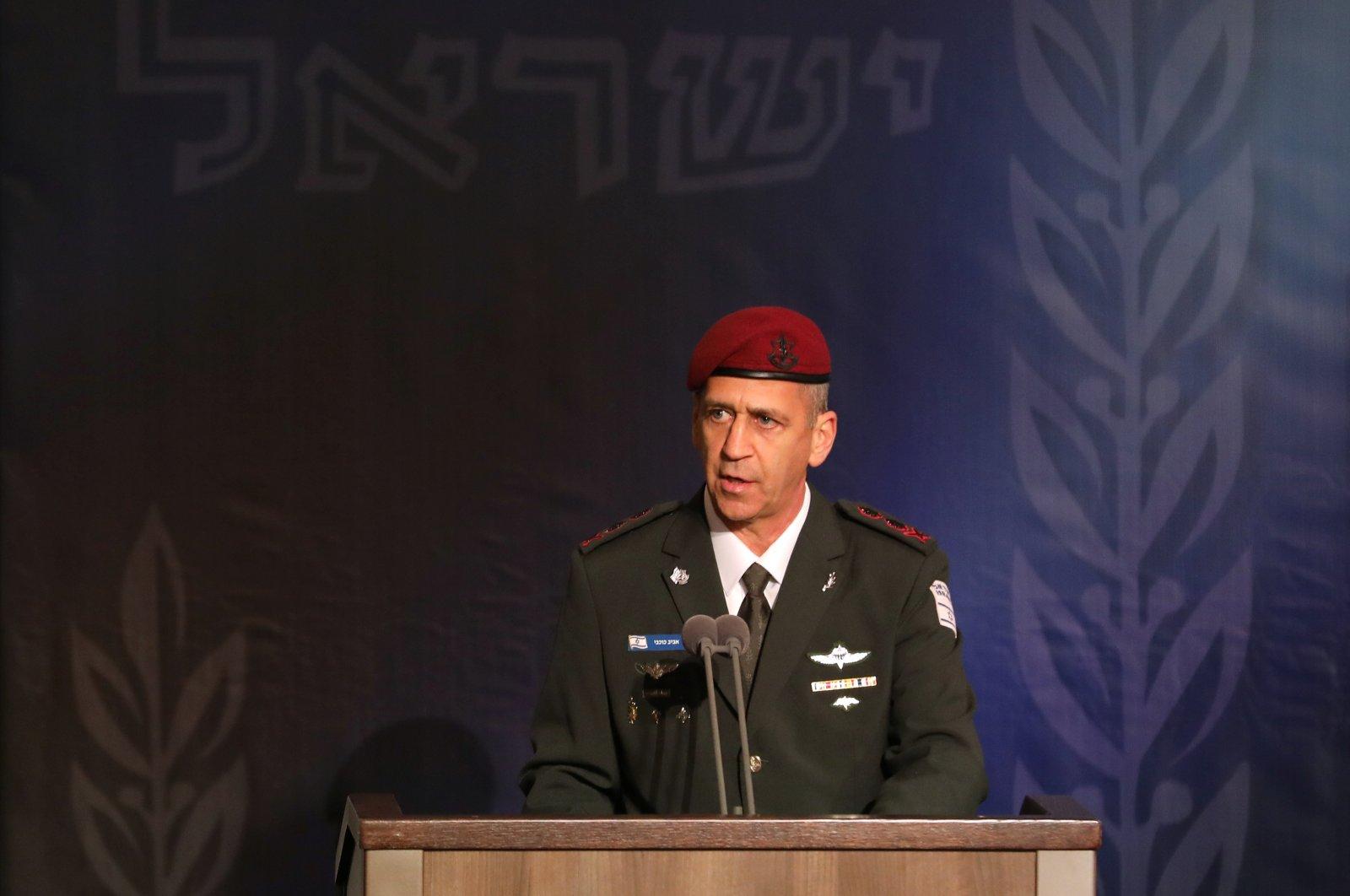 Lt. Gen. Aviv Kohavi Aviv Kohavi speaks during a ceremony whereby at the Defense Ministry in Tel Aviv, Israel, Jan. 15, 2019. (Reuters Photo)