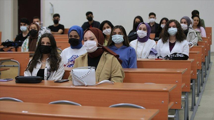 Students attend a class at Kırklareli University, in Kırklareli, northwestern Turkey, Sept. 20, 2021. (AA Photo)