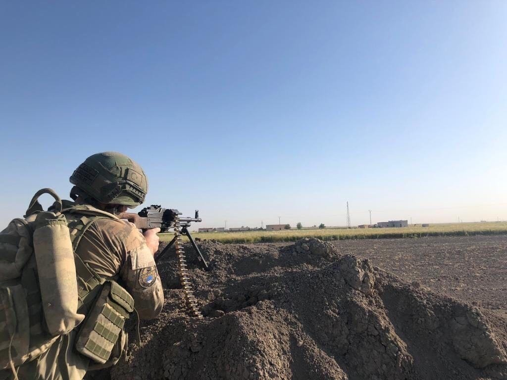 A Turkish soldier participates in counterterrorism operations in northern Syria in this undated file photo. (DHA File Photo)