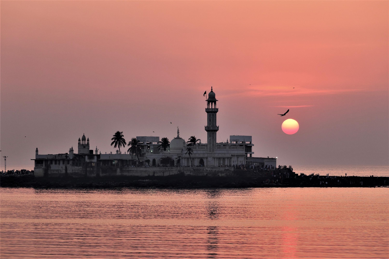 A view from the Haji Ali Dargah in Mumbai, India, during the sunset. (Shutterstock Photo)