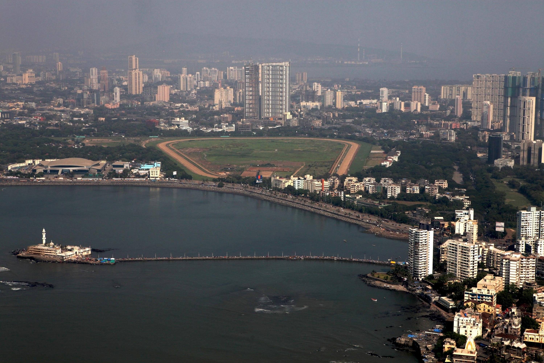 An aerial view from the Haji Ali Dargah, Mumbai, India. (Shutterstock Photo)