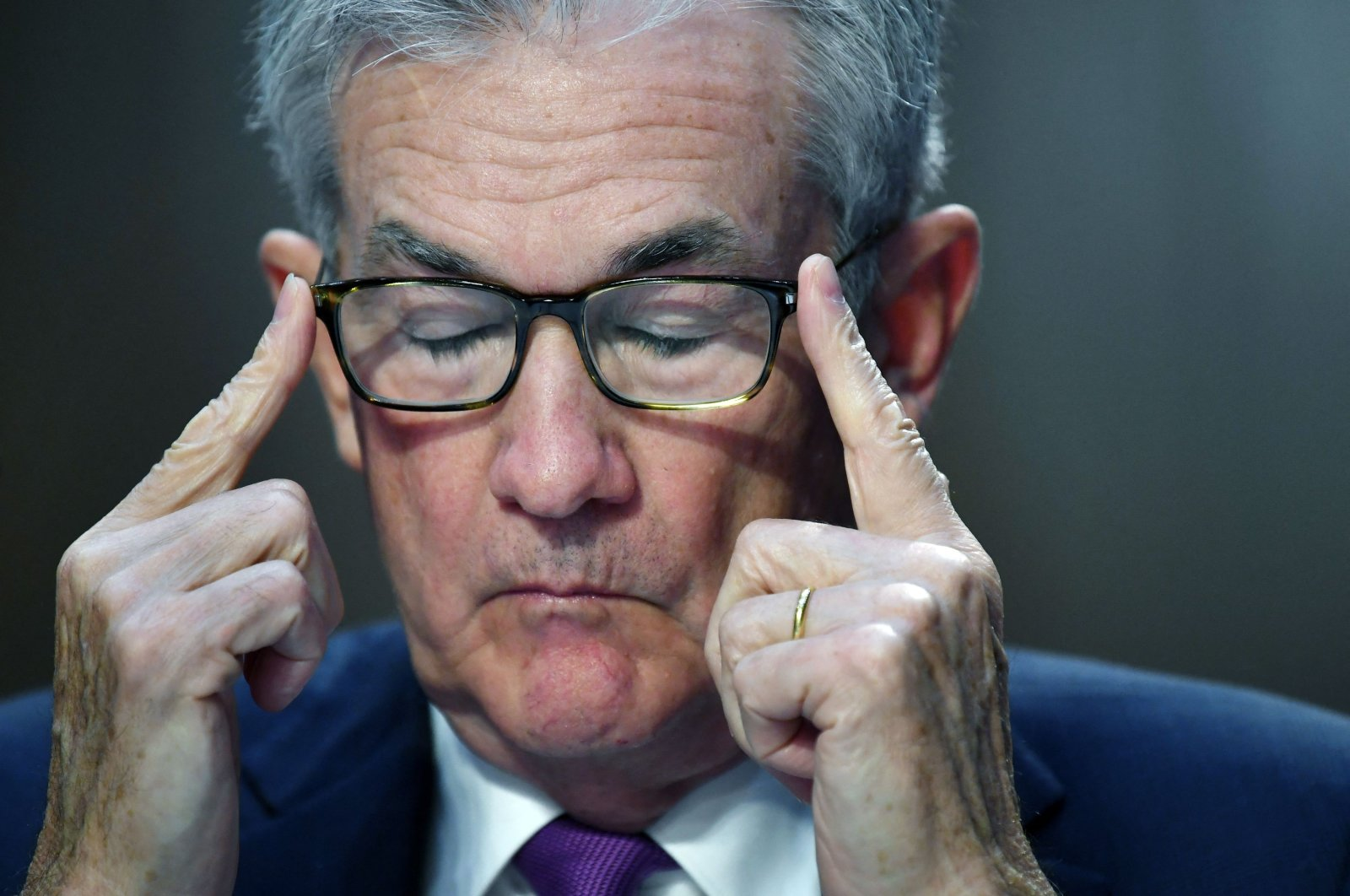 Federal Reserve Chair Jerome Powell testifies during a Senate Banking, Housing and Urban Affairs Committee hearing on the CARES Act, at the Hart Senate Office Building in Washington, D.C., U.S., Sept. 28, 2021. (AFP Photo)