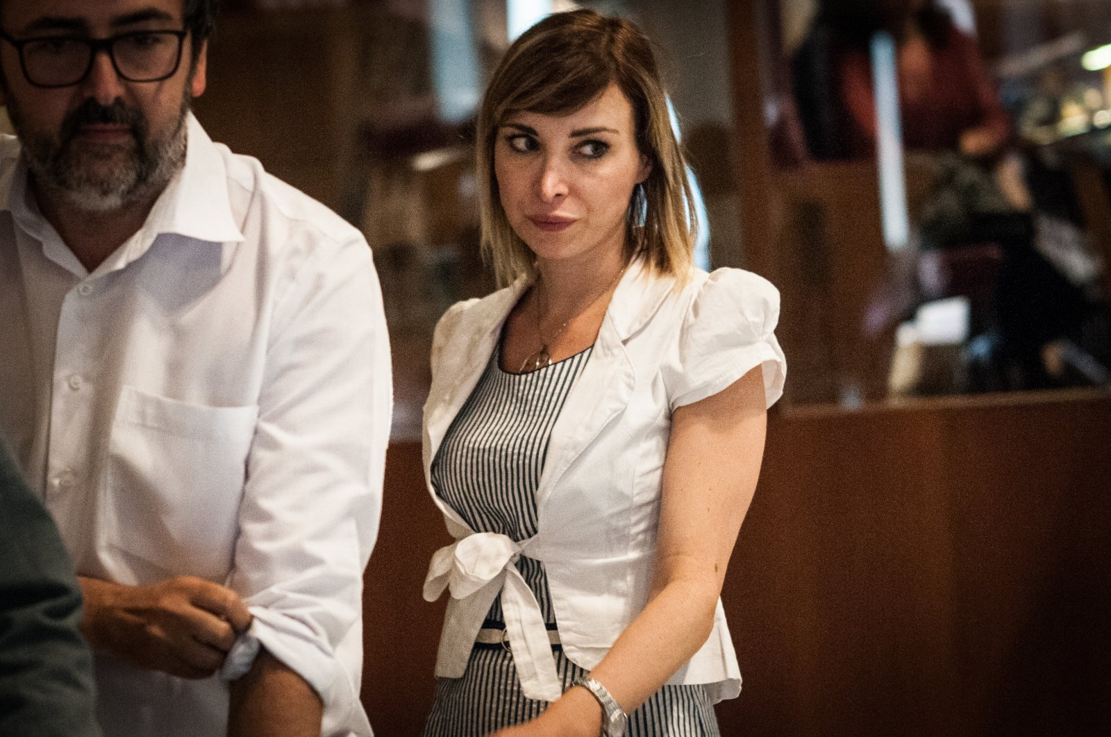 Rachele Mussolini during a session of the Capitoline Assembly in Rome, Italy, June 14, 2018. (Getty Images)