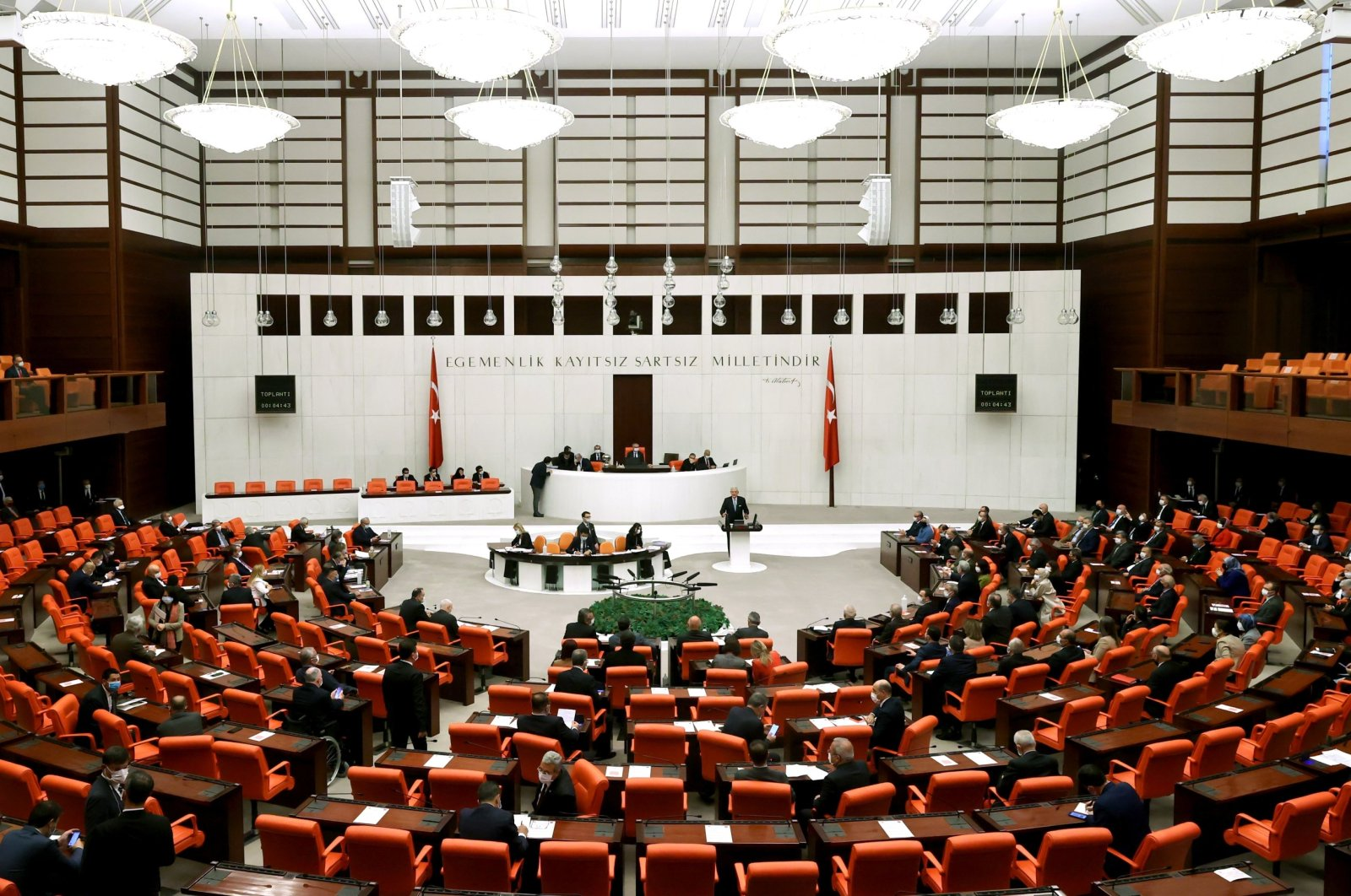 The General Assembly of the Turkish Parliament in Ankara, Turkey, April 6, 2021. (AA File Photo)