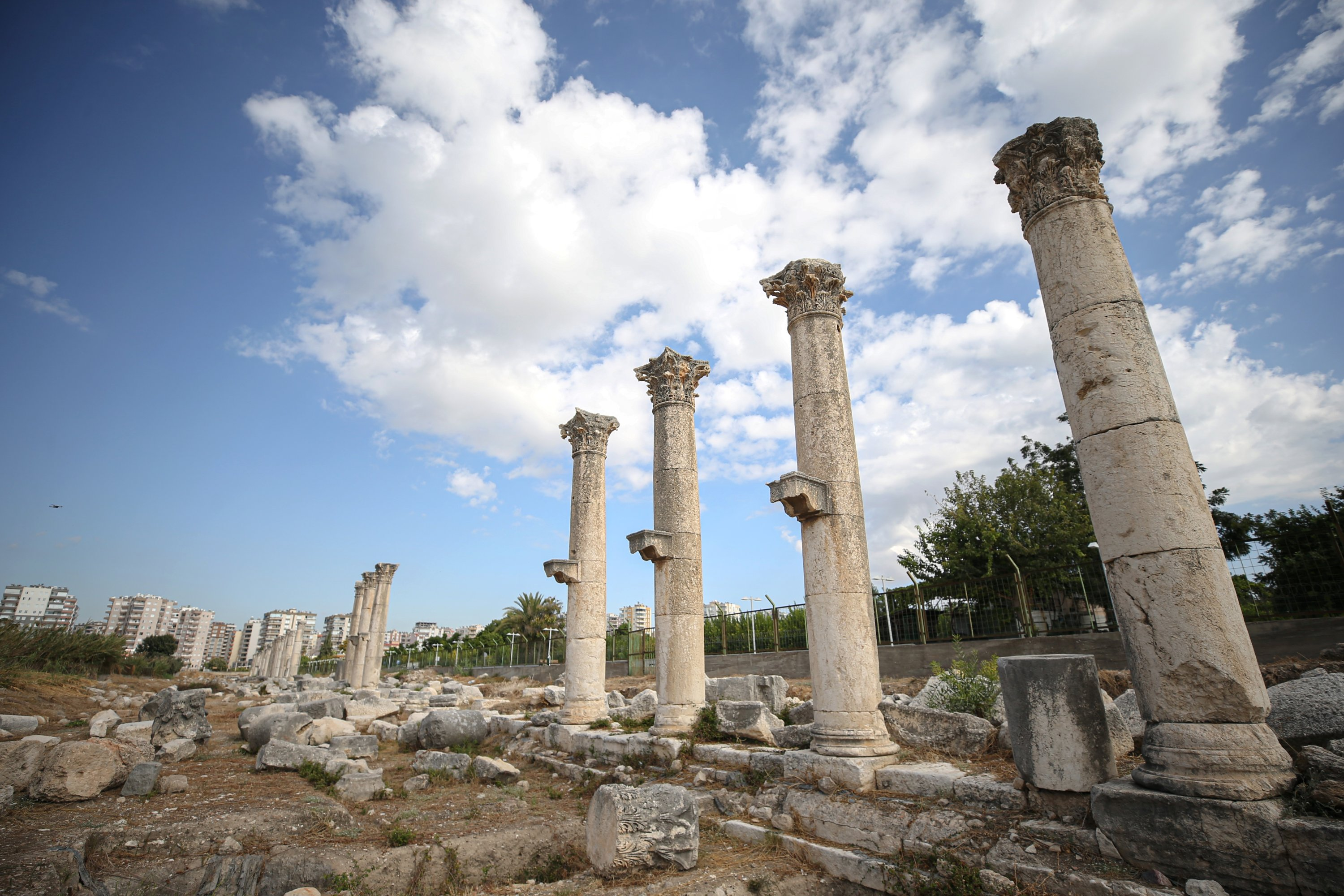 A general view of the ancient city of Soli Pompeiopolis, Mersin, southern Turkey, Oct. 6, 2021. (AA Photo)