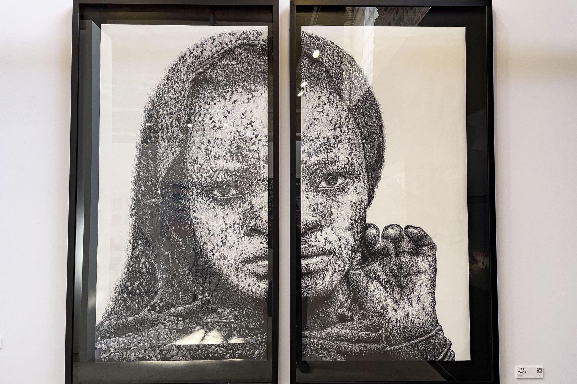 A split portrait by SefaÇakır in Contemporary Istanbul