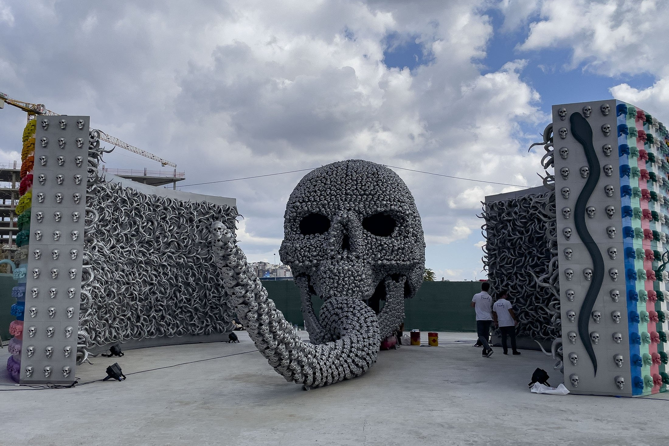 An outdoor installation at theContemporary Istanbul
