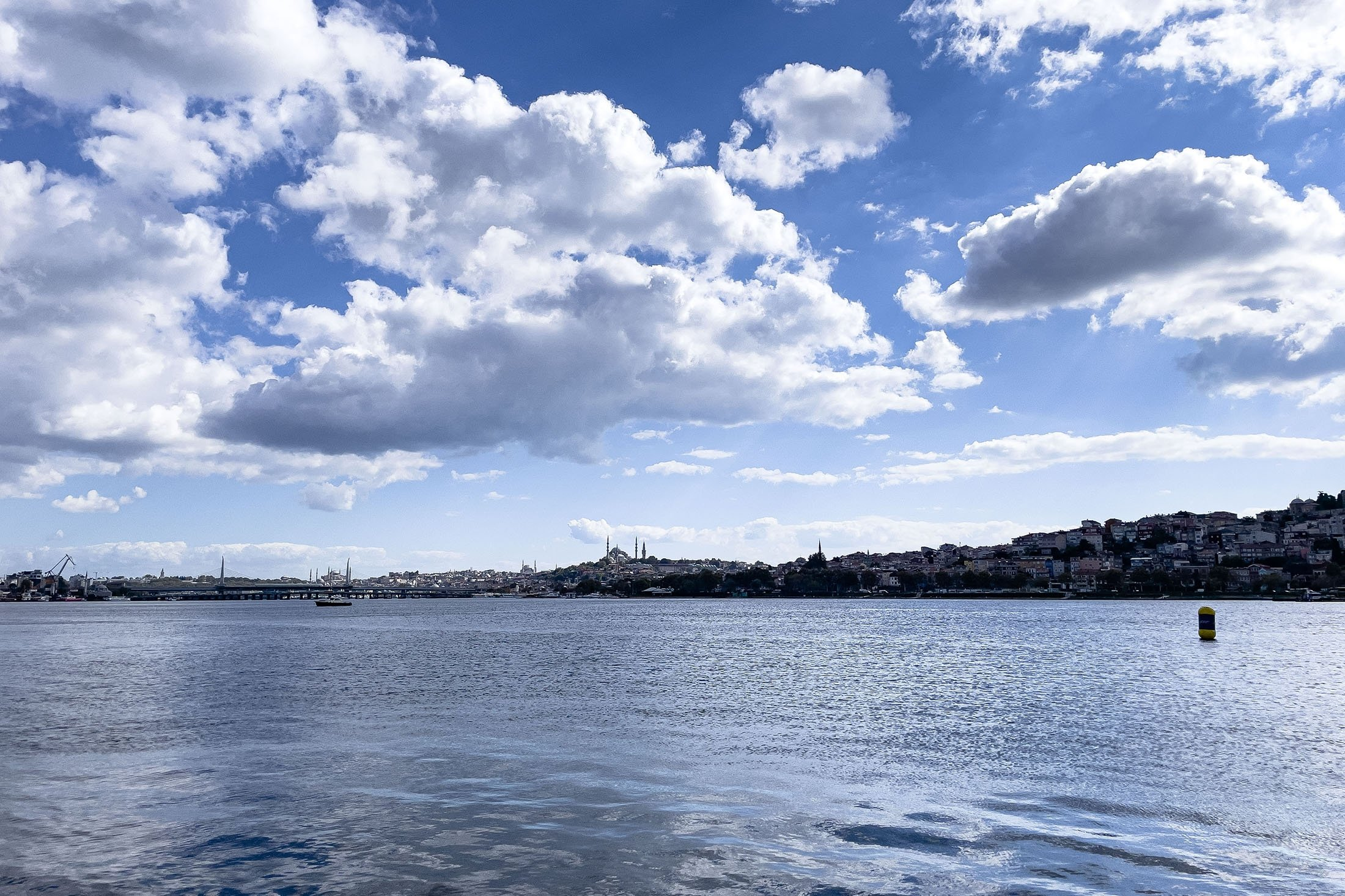 The view of the Golden Horn as seen from the Contemporary Istanbul