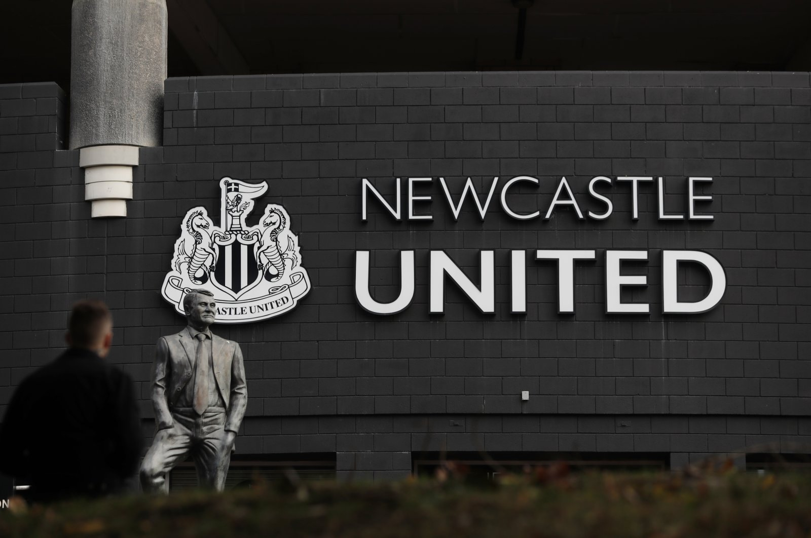A general view outside Newcastle United's St. James' Park stadium, Newcastle, England, Oct. 7, 2021. (Reuters Photo)