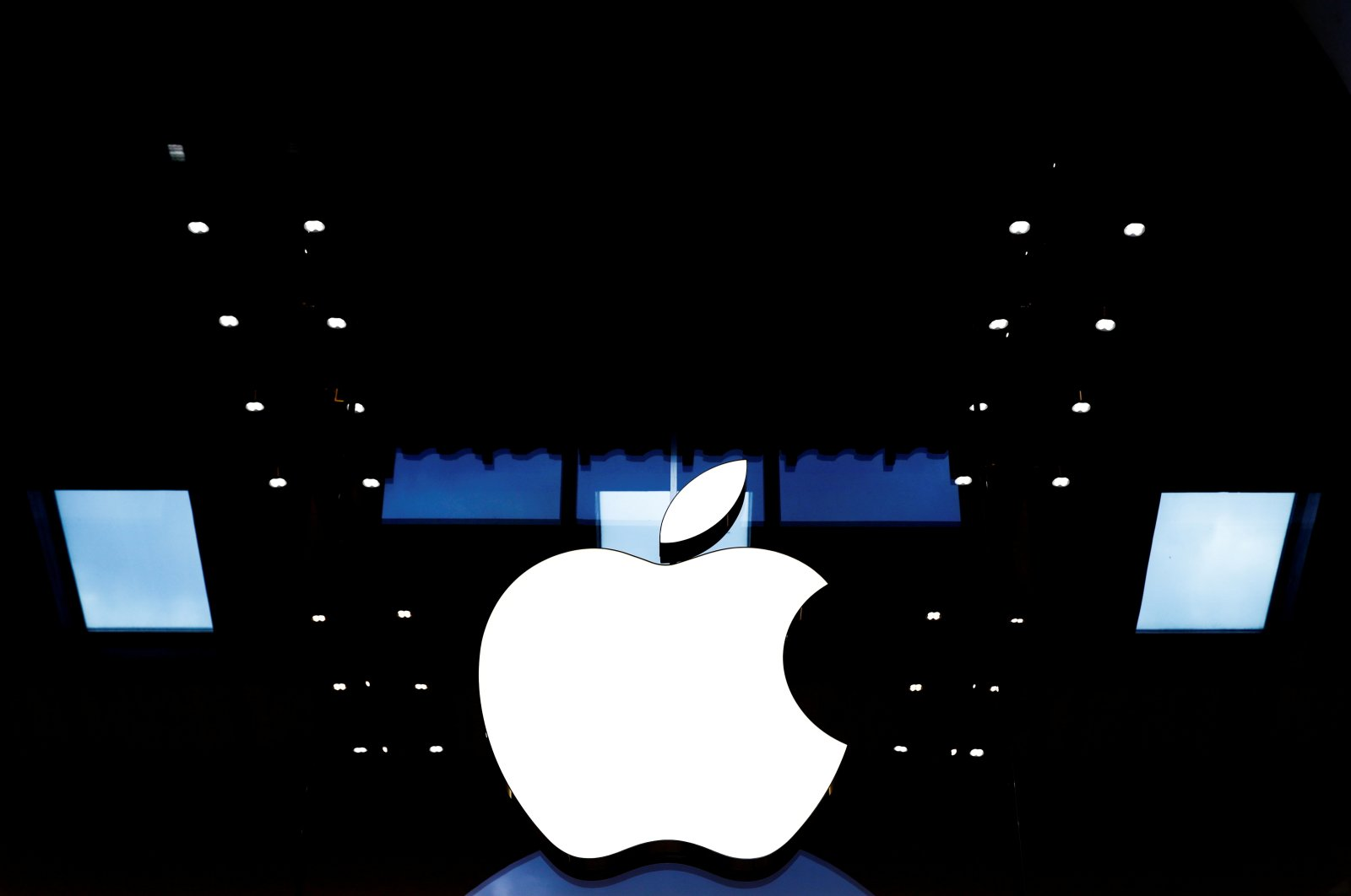 The Apple logo is seen at one of its stores at the Marche Saint-Germain in Paris, France, July 15, 2020. (Reuters Photo)