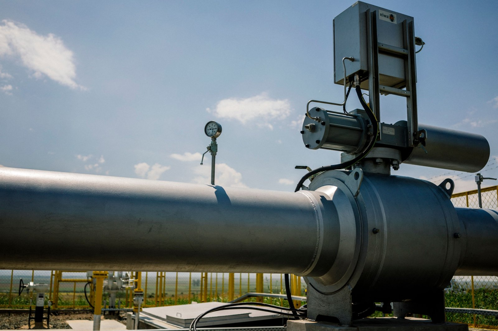 A view of the facility of the Lozenets-Nedyalsko natural gas transit pipeline to Turkey near the village of Lozenets,  Bulgaria, Aug. 3, 2018. (AFP Photo)