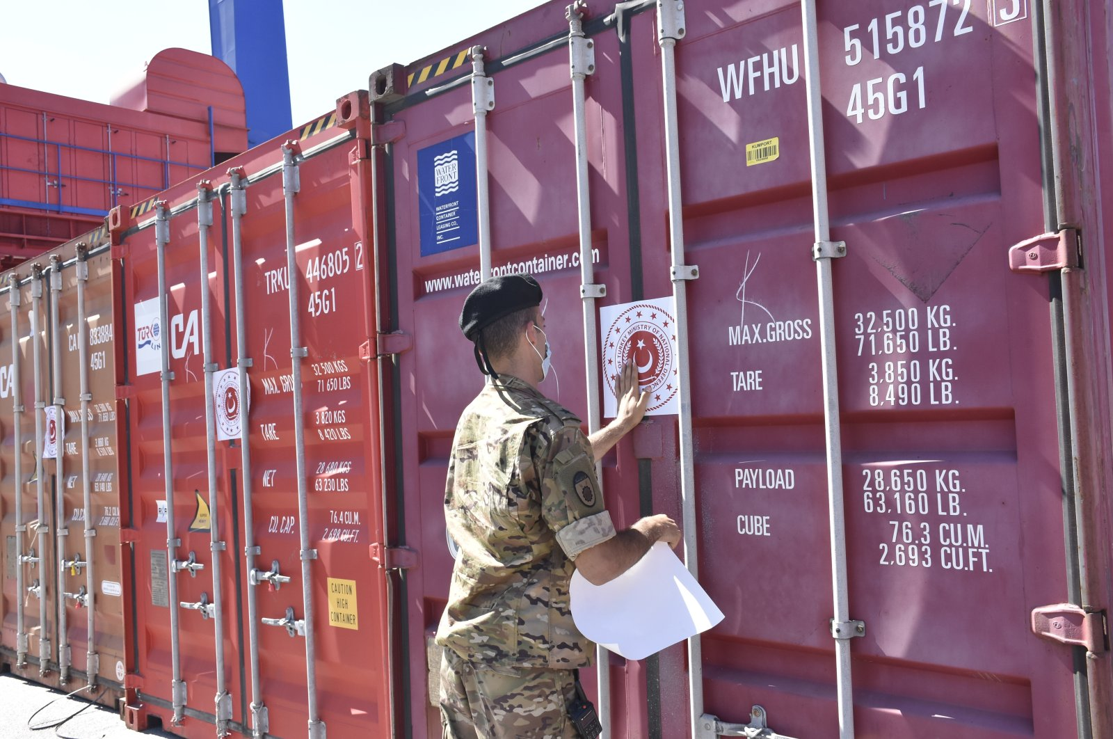 Turkey's Defense Ministry on Thursday delivered 60 tons of aid to the Lebanese military, Beirut, Lebanon, Oct. 7, 2021. (AA Photo)