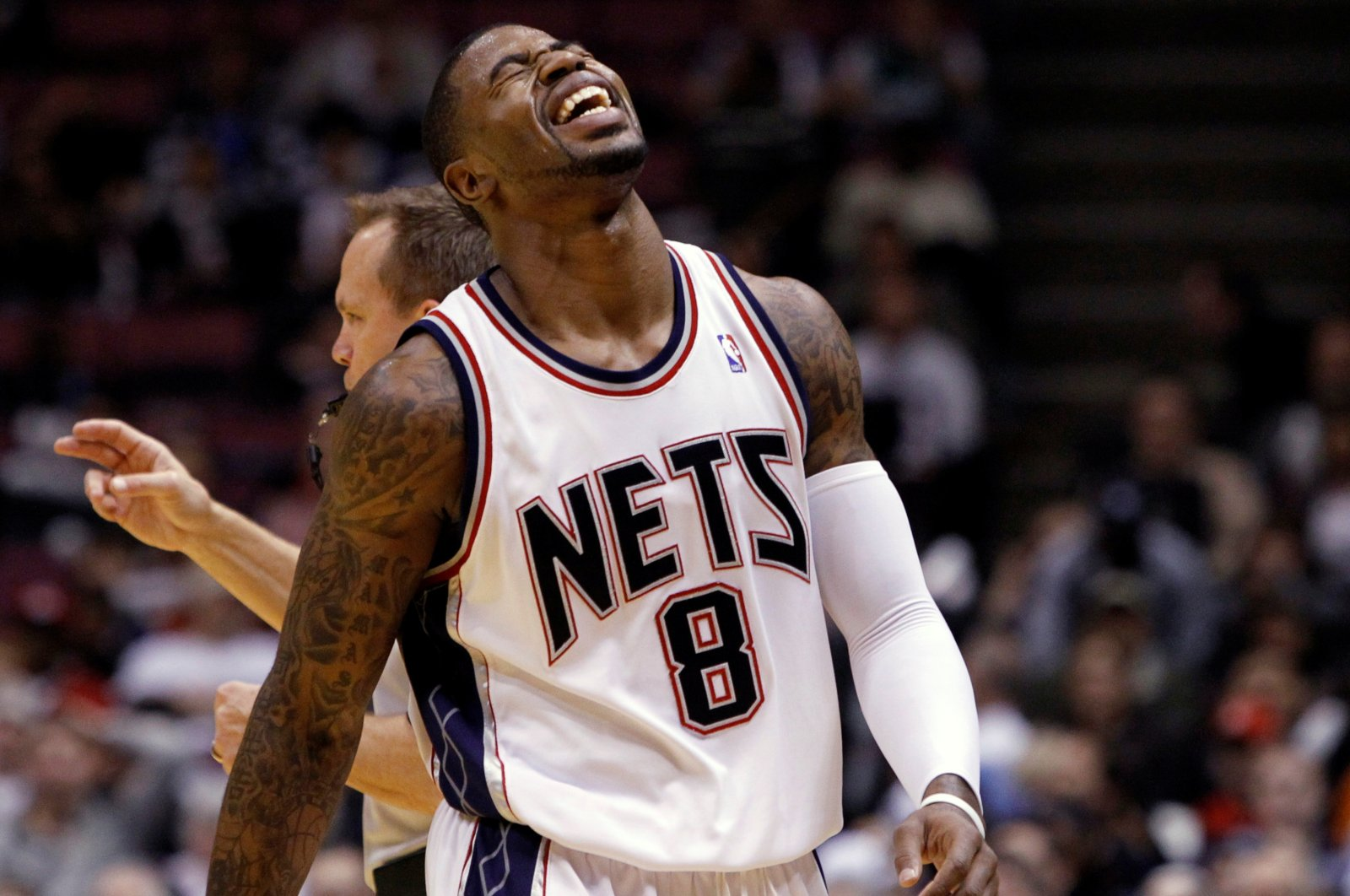 New Jersey Nets Terrence Williams reacts after missing a shot against the Dallas Mavericks in the first quarter of their NBA basketball game in East Rutherford, New Jersey, U.S., Dec. 2, 2009. (Reuters File Photo)